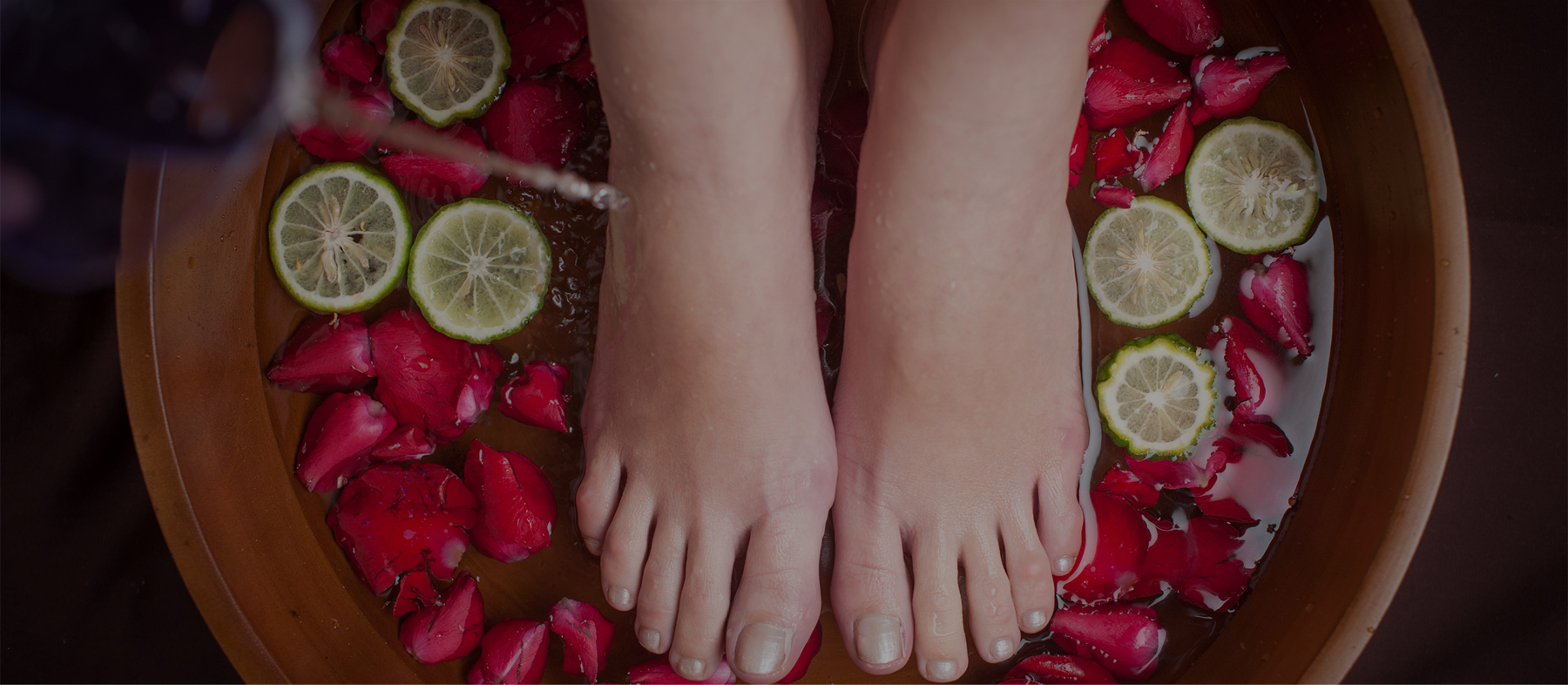 Foot Salt Scrub with Foot Massage